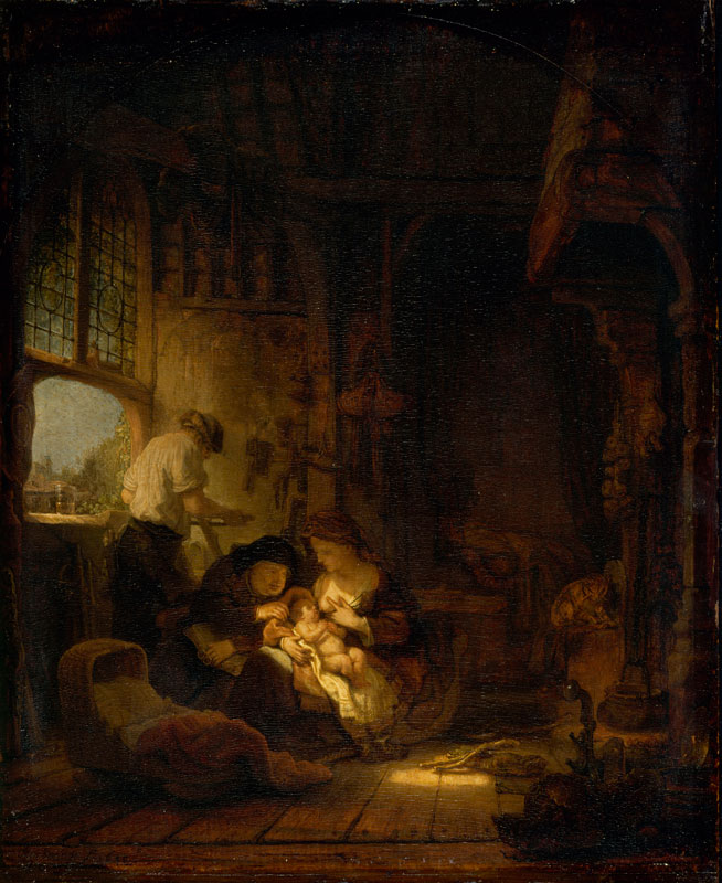 Rembrandt,  The Carpenter's Household, 1640,  Musée du Louvre, Paris