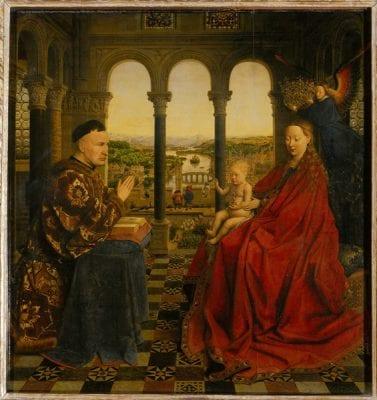 Jan van Eyck, Madonna of Chancellor Rolin, ca. 1435, Musèe du Louvre, Paris