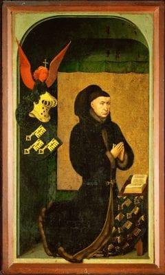 Rogier van der Weyden, Nicolas Rolin, chancellor for the dukes of Burgu, 1434, Beaune, France, Hôtel-Dieu