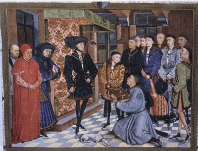 Philip III the Good, Duke of Burgundy, Receiving, 1468, Bibliothéque royale Albert I, Brussels