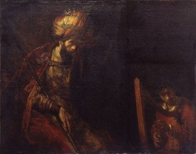 Rembrandt van Rijn and/or Studio of,  Saul and David,  ca. 1655, Royal Picture Gallery Mauritshuis, The Hague