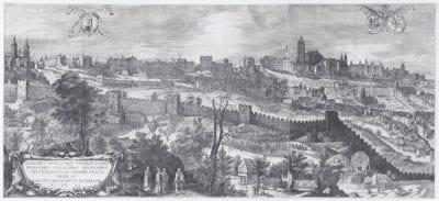 Hans Wechter the Elder, View of Prague, after a design by Philips van de, 1606,