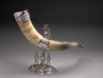 Unknown artist,  Drinking Horn of the Saint Sebastian, or Longbow, 1566, Amsterdam Museum