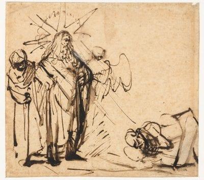 Ferdinand Bol, Abraham Meeting the Lord and Two Angels,  1646 or later,  Rijksmuseum,  Rijksprentenkabinet, Amsterdam