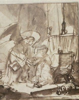Ferdinand Bol, Annunciation, ca. 1636–40, Nasjonalmuseet for kunst, arkitektur og design, Oslo
