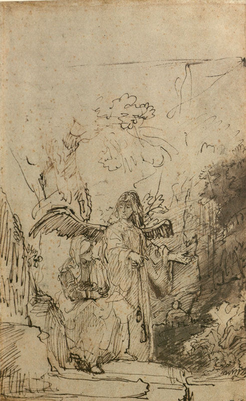 Ferdinand Bol, The Angel Appearing to Hagar in the Desert,  ca. 1636–40,  Lugt Collection, Paris