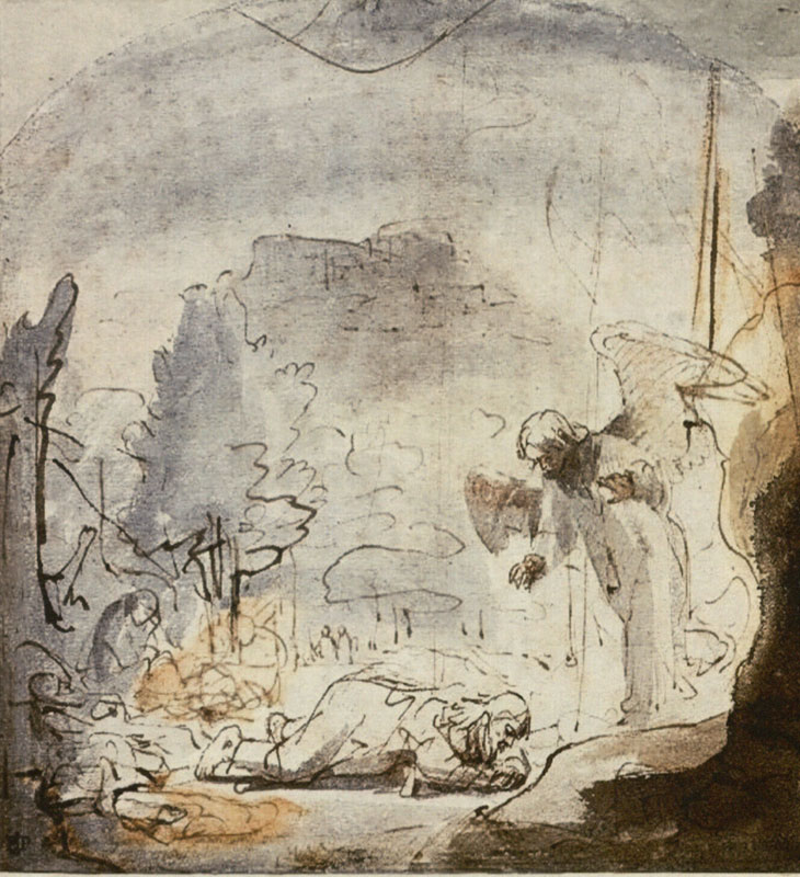 Ferdinand Bol, Agony in the Garden,  ca. 1645,  The British Museum, London
