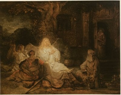 Rembrandt, Abraham Entertaining the Three Angels, 1646, Private collection