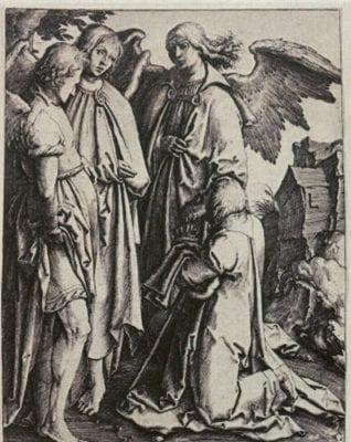 Lucas van Leyden, Abraham and the Three Angels, ca. 1513, Rhode Island School of Design Museum, Gift of Murray S. Danforth, Jr., Providence
