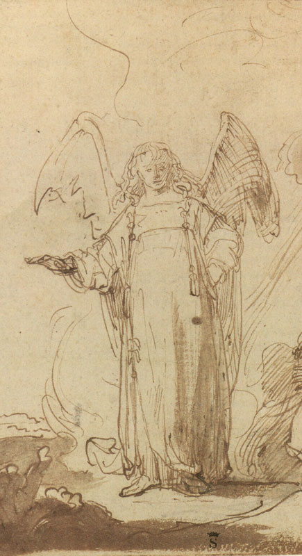 Ferdinand Bol, Hagar at the Well on the Way to Shur, detail,  early-to-mid 1640s,  Rijksmuseum,  Rijksprentenkabinet, Amsterdam
