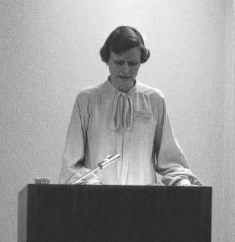 Carol Purtle opens the Symposium