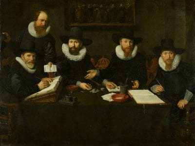 Nicolaes Eliasz Pickenoy,  The Governors of the Spinhuis, 1628,  Amsterdam Museum