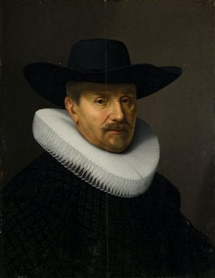 Nicolaes Eliasz Pickenoy,  Portrait of Jacob Backer, after 1632,  Amsterdam Museum