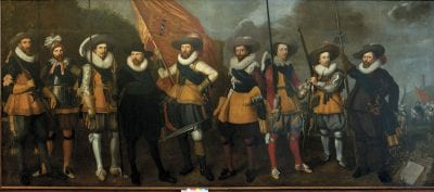 Nicolaes Lastman and Adriaan van Nieulandt, Company of Captain Abraham Boom and Lieutenant O, 1623, Amsterdam Museum