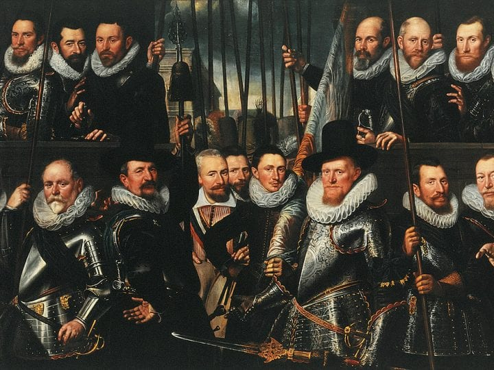 Frans Badens,  Company of Captain Arent ten Grootenhuys and Lie,  1613,  Amsterdam Museum