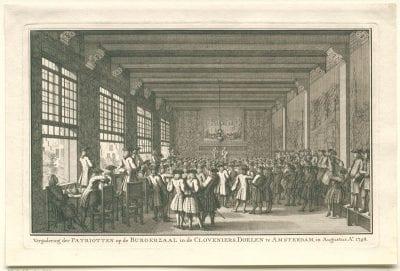 "Anonymous, Meeting of ""Doelisten"" in the Arquebusiers C, 1748, Rijksmuseum Amsterdam"