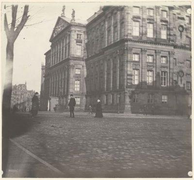 """George Hendrik Breitner, Rear Facade of the Paleis op de Dam, The """"klei, ca. 1886–1910, Rijksmuseum Amsterdam"""
