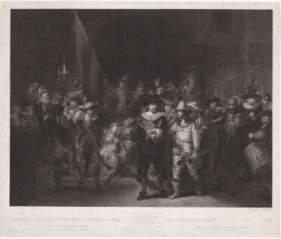 Lambertus Antonius Claessens, after Gerrit Lundens, after Rembrandt, Company of Captain Frans Banninck Cocq and Lieut, 1797, Rijksmuseum Amsterdam