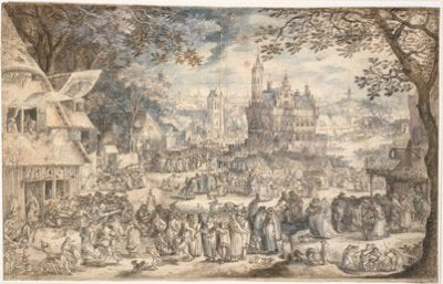 David Vinckboons,  Village Kermis, 1602, Statens Museum for Kunst, Copenhagen