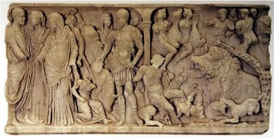 Sarcophagus Rinuccini, second century C.E., Antikensammlung, Altes Museum, Staatliche Museen zu Berlin