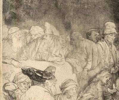 Rembrandt van Rijn,  The Hundred Guilder Print, detail, ca. 1648, The British Museum, London