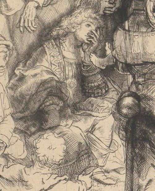 Rembrandt van Rijn, The Hundred Guilder Print, detail(fig. 2),  ca. 1648,