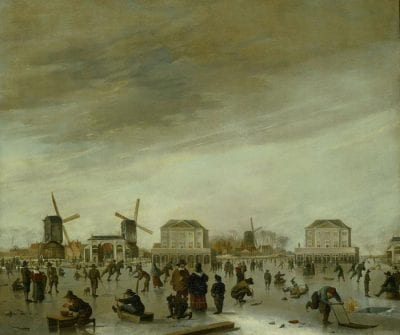 Hendrick Dubbels (1621–1707),  The Blockhouses on the Amstel in Winter,  ca. 1651–54,  Amsterdams Historisch Museum