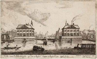 Reinier Nooms (1623/24–1664), etcher,  Blockhouses on the Amstel,  ca. 1654,  Stadsarchief, Amsterdam