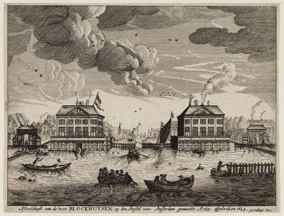 Jan Cralinge (active ca. 1650–ca. 1700), publisher,  Blockhouses on the Amstel,  ca.1654,  Stadsarchief, Amsterdam