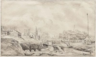 Jan van Kessel (1641–1680),  Demolition of the Heiligewegspoort, 1664,  Stadsarchief, Amsterdam