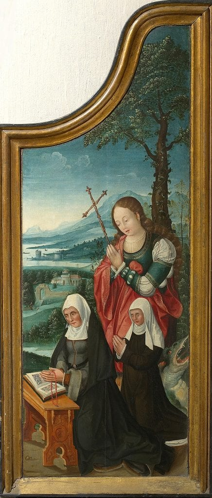 Unknown Mechelen, Besloten Hofje with Saint Elizabeth of Hungary, Sa, Musea & Erfgoed Mechelen, Collectie Gasthuiszusters, Onze-Lieve-Vrouw Waver, Brussels; on long-term loan from the Augustinian Sisters of Mechelen
