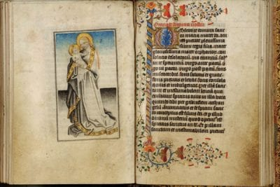 Full-page miniature depicting the Virgin and Chil, ca. 1440, Koninklijke Bibliotheek Albert I, Brussels