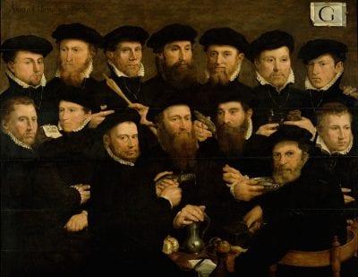 Dirck Barendsz , Civic Guardsmen of Squad G, 1562, Amsterdam Museum