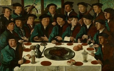 Cornelis Anthonisz,  Meal of a Squad of Civic Guardsmen of the St. Ge, 1533, Amsterdam Museum
