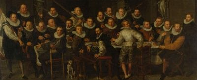 Pieter Isaacsz,  Company of Captain Gillis Jansz Valckenier and L, 1599, Rijksmuseum, Amsterdam, on loan from the city of Amsterdam (SA 7339)