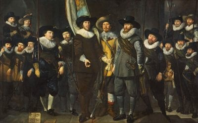 Thomas de Keyser,  Company of Captain Allaert Cloeck and Lieutenant, 1632, Rijksmuseum, Amsterdam, on loan from the city of Amsterdam (SA 7353)