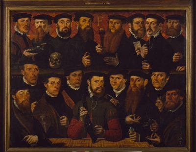 Master of the Antwerp Family Portrait,  Civic Guardsmen of Squad F, 1557, Amsterdam Museum