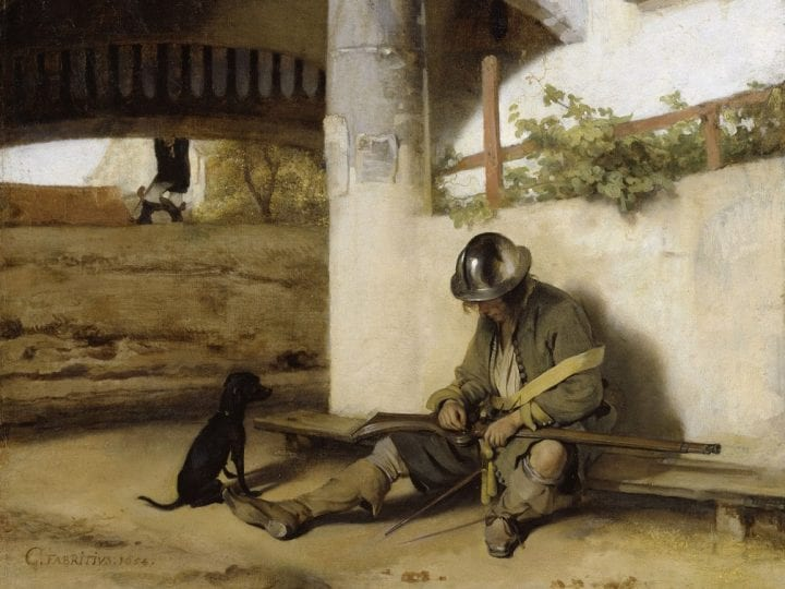 Carel Fabritius,  The Sentry, 1654, Staatliches Museum Schwerin