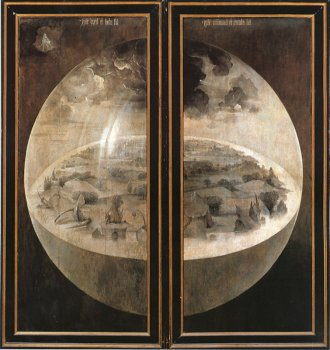 Jheronimus Bosch,  Creation of the World, exterior, Garden of Eart, Museo del Prado, Madrid