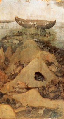 Jheronimus Bosch,  Noah's Ark after the Flood, Museum Boijmans Van Beuningen, Rotterdam