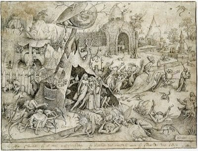 Pieter Bruegel the Elder,  Luxuria, ca. 1557, Bibliothèque royale de Belgique, cabinet des estampes, Brussels