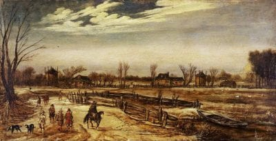 Esaias van de Velde,  Winter Landscape, 1614, Fitzwilliam Museum, Cambridge