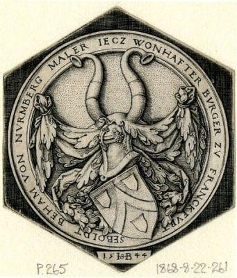 Sebald Beham, Coat of Arms of Sebald Beham, 1544, The British Museum, London