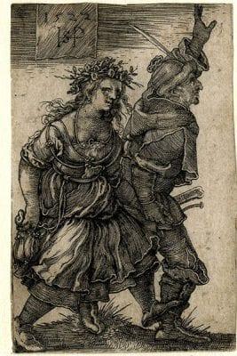 Sebald Beham, Peasants Dancing, 1522, The British Museum, London