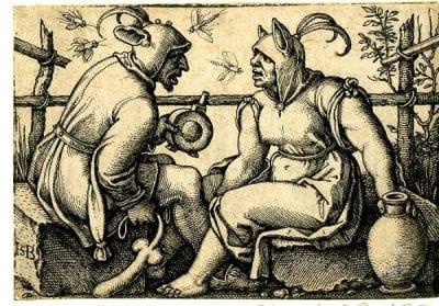 Sebald Beham, A Couple of Fools, 1540s, The British Museum, London