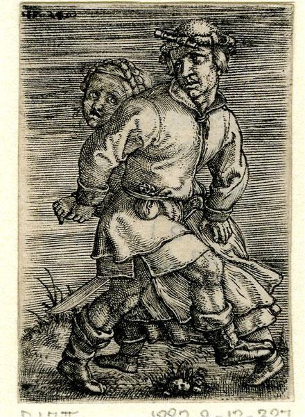 Barthel Beham, A Peasant Couple Dancing, 1524,  The British Museum, London