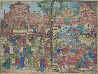 Sebald Beham, Feast of Herod, ca. 1534, Museen der Stadt Nürnberg, Graphische Sammlung