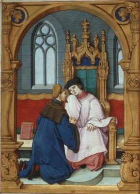 Sebald Beham, Confession,ca. 1531, fromPrayer Book of Card, ca. 1531, Hofbibliothek, Ashaffenburg