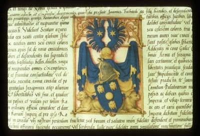 Sebald Beham, Patent of Nobility for Johann Fichart, ca. 1541, Stadtarchiv, Frankfurt