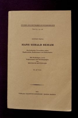 Fig. 15 Gustav Pauli,Hans Sebald Beham(1901), reprinted 1974